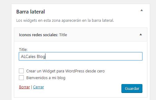 widget wordpress desde cero